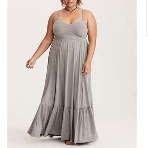 Torrid Jersey tiered maxi dress